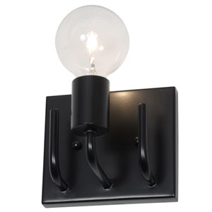 Socket-To-Me Black One-Light Wall Sconce