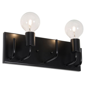 Socket-To-Me Black Two-Light Wall Sconce
