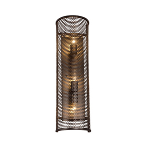 Lit-Mesh Test New Bronze Three Light Wall Sconce
