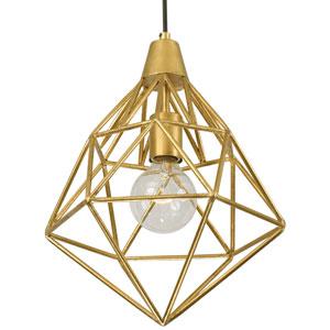 Facet Gold Leaf 11-Inch One-Light Pendant