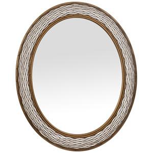 Flow Hammered Ore 29-Inch Mirror