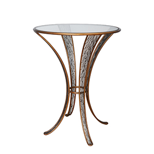 Flow Hammered Ore Pub Table