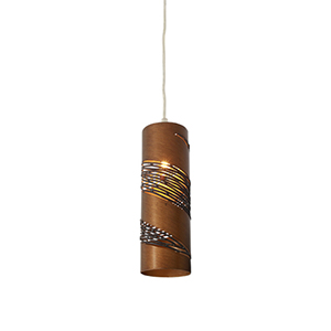 Flow Hammered Ore 10-Inch One Light Narrow Mini Pendant