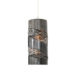 Flow Steel One Light Mini Pendant