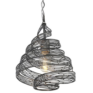Flow Steel 12-Inch One Light Mini Pendant