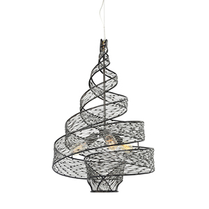 Flow Steel Three Light Pendant