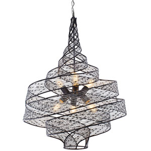 Flow Steel Six Light Pendant