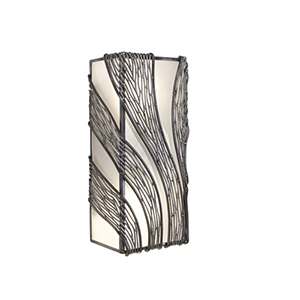 Flow Steel Two Light Wall Sconce