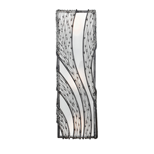 Flow Steel Three Light Wall Sconce