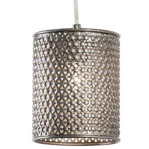 Casablanca Steel One-Light Mini Pendant