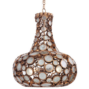 Fascination Hammered Ore 24-Inch Four-Light Pendant