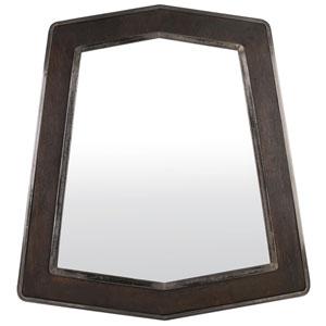 Lofty Faux Zebrawood and Steel 29-Inch Mirror