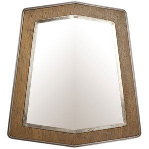 Lofty Wheat and Steel 29-Inch Mirror