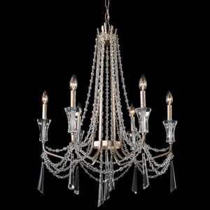 Barcelona Transcend Silver 27-Inch Six-Light Chandelier