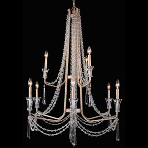 Barcelona Transcend Silver 34-Inch Nine-Light Chandelier