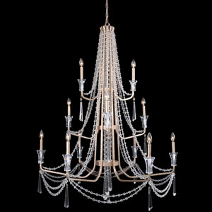 Barcelona Transcend Silver 44-Inch 12-Light Chandelier