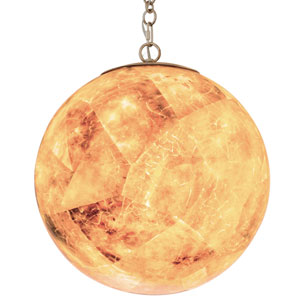Big Gold Dust 10-Inch One-Light Pendant with Champagne Shade