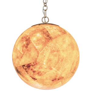 Big Gold Dust 18-Inch Two-Light Pendant with Champagne Shade