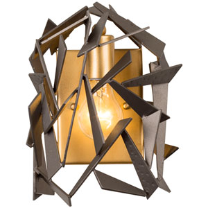 Bermuda Antique Gold with Rustic Bronze One Light Wall Sconce
