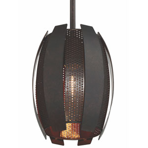Sawyers Bar Two-Tone Copper Ore One Light Mini Pendant
