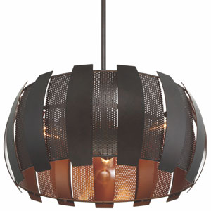 Sawyers Bar Two-Tone Copper Ore Three Light Pendant