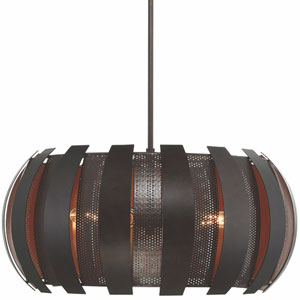 Sawyers Bar Two-Tone Copper Ore Four Light Pendant