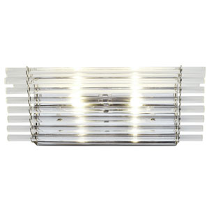 Empire State Polished Stainless Steel Two Light Vanity