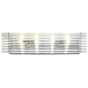 Empire State Polished Stainless Steel Four Light Vanity