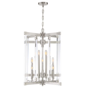 Halcyon Satin Nickel Twelve-Light Chandelier