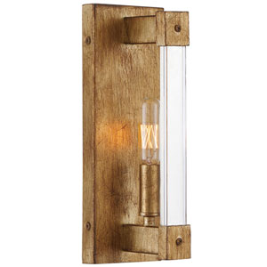 Halcyon Antiqued Gold Leaf One-Light Wall Sconce