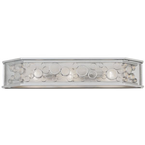 Fascination Metallic Silver Three Light Vanity