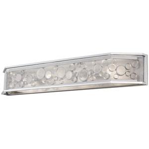 Fascination Metallic Silver Four Light Vanity
