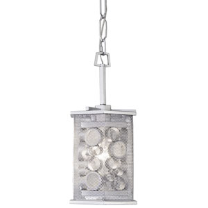 Fascination Metallic Silver One Light Mini Pendant