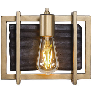 Madeira Rustic Gold One-Light Bath Sconce