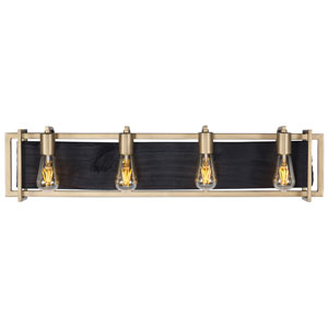 Madeira Rustic Gold Four-Light Bath Vanity