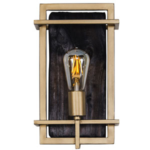 Madeira Rustic Gold One-Light Wall Sconce