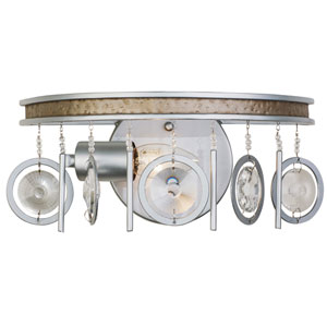 Charmed Silver with Champagne Mist One-Light Bath Sconce