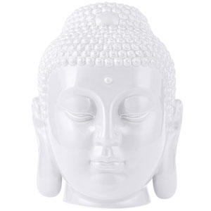 Casa White Buddha Cookie Jar