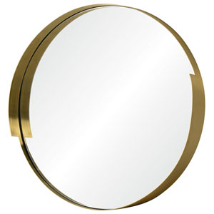 Echo Gold Round Mirror