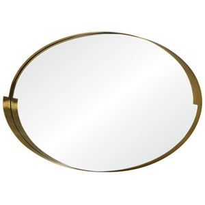 Echo Gold Oval Mirror