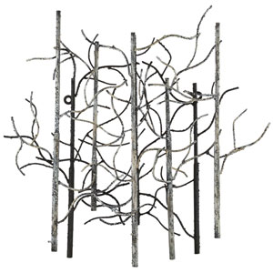 Casa Black with White and Gray Twenty Six Inch Wall Sculpture