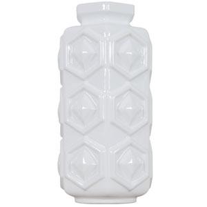 Casa Hex White Small Hex Ceramic Vase