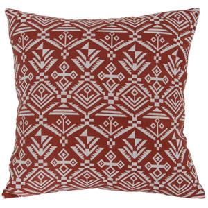 Casa Red 18-Inch Tribal Lumbar Throw Pillow