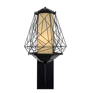 Wright Stuff Black One Light Large Outdoor Wall Sconce