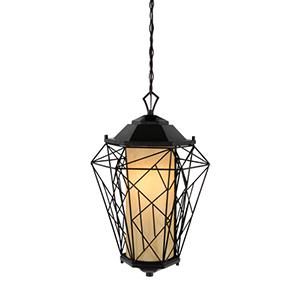Wright Stuff Black One Light Outdoor Pendant