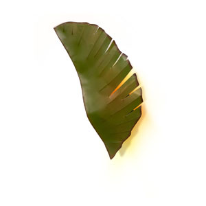 Banana Leaf Metal Indoor Two-Light Sconce