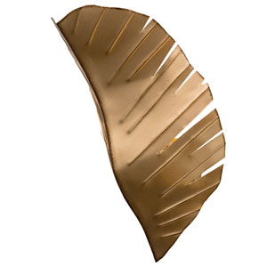 Banana Leaf Gold with Dark Edging Two-Light Wall Sconce