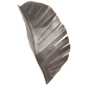 Banana Leaf Silver with Dark Edging Two-Light Wall Sconce
