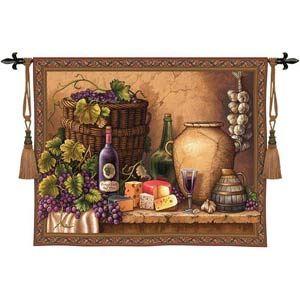 Wine Tasting Tapestry Wall Hanging