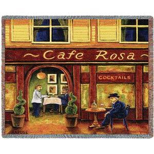 Cafe Rosa Throw